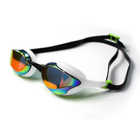 Zone3 Volaire Streamline Racing Goggles, mirror lens-white/lime